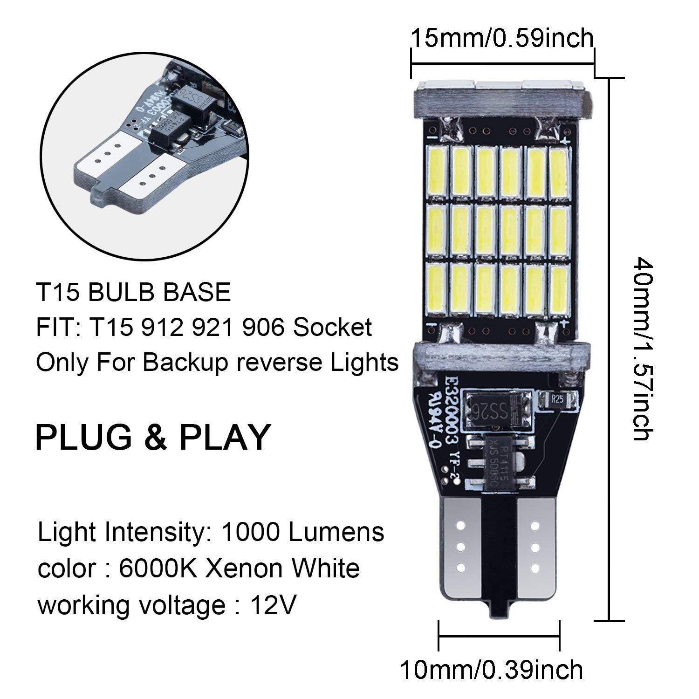 EL6 Series T15 Automotive LED Bulbs - Interior / Exterior Bulbs