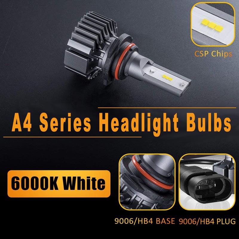 A4 Series Automotive Headlight Bulbs - 9003(H4/HB2), 9004(HB1), 9007(HB5), 9008( H13). Single Beam: H7, H11(H8/H9/H16), 9005(HB3), 9006( HB4), 9012(HIR2), H1, H3 etc