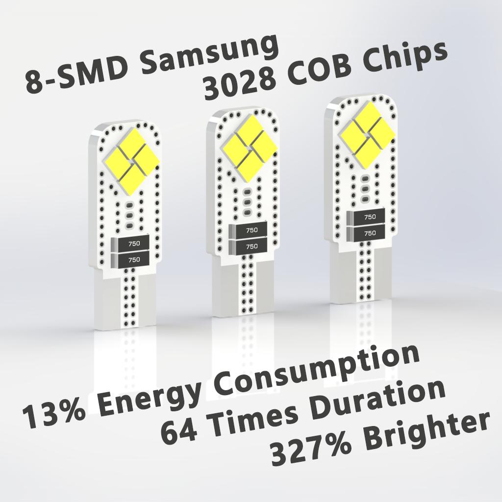 194 LED Bulbs | T10 |168 | 192 | 12961 | W5W | Automotive LED Bulbs