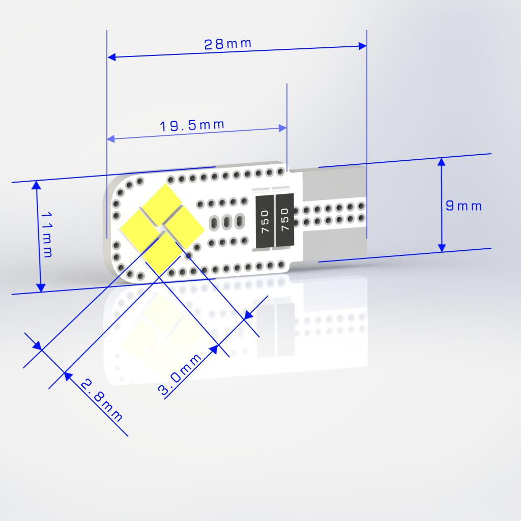 168 LED Bulbs | T10 | 194 | 192 | 12961 | W5W | Automotive LED Bulbs